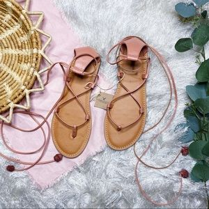 NWT American Eagle Outfitters Lace Up Wrap Sandals